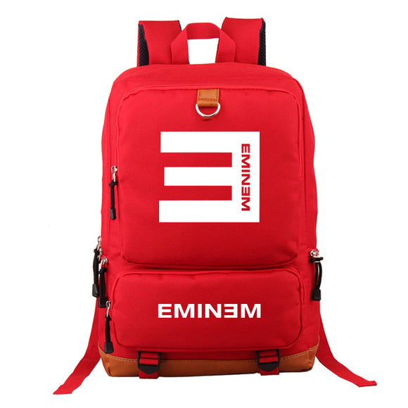 Eminem Backpack High School Students Backpack  Big Capacity Travel Bag