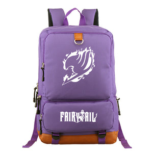 Fairy Tail Polyester Backpack Students Bookbag Big Capacity Rucksuck For Youth
