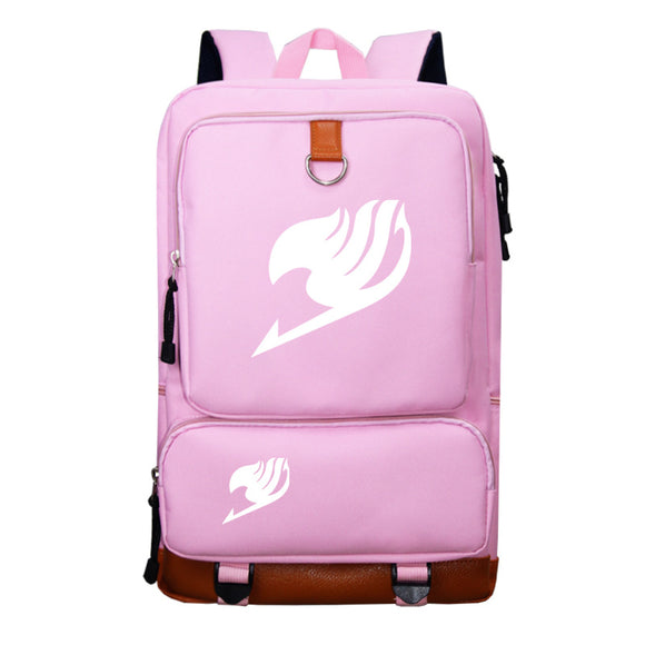 Fairy Tail Backpack Students Bookbag Big Capacity Rucksuck For Youth