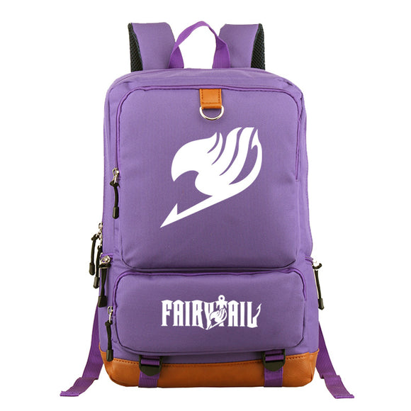 Fairy Tail Backpack Students Bookbag Big Capacity Rucksuck
