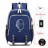 Anime ONE PUNCH-MAN Canvas Student Backpack With USB Charging Port