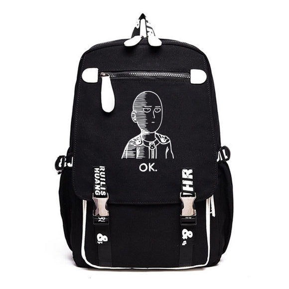 Anime Backpack School One Punch Man Backpack kawaii cute Saitama Backpack