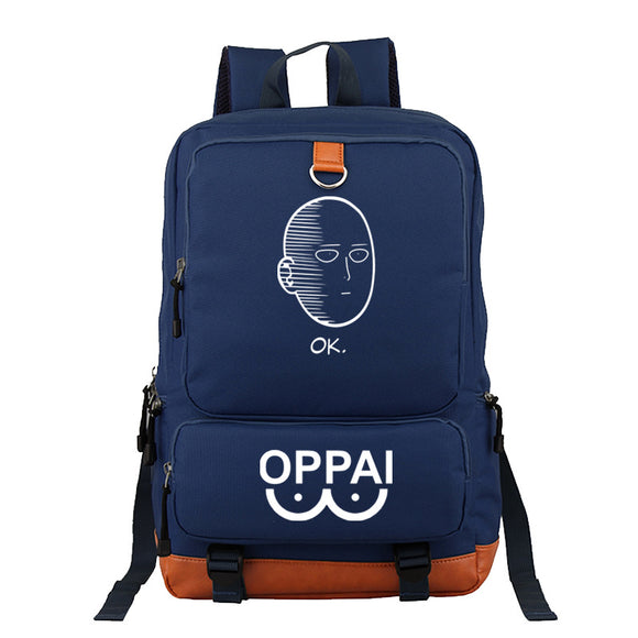 Anime ONE PUNCH-MAN  Student Backpack Bookbags Big Capacity Rucksuck