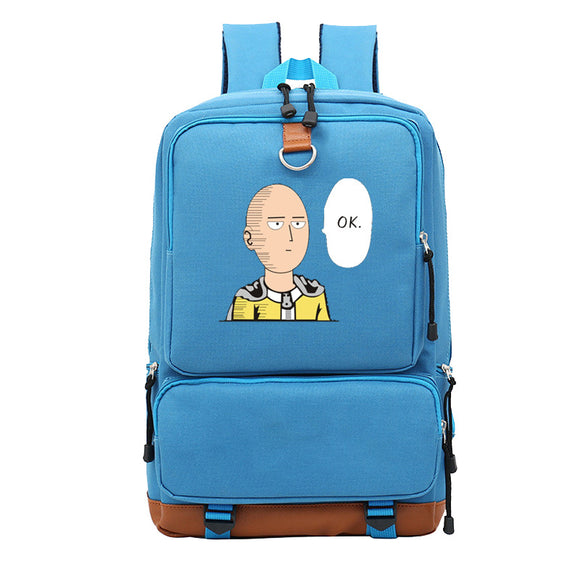Anime ONE PUNCH-MAN  Student Polyester Backpack Big Capacity Rucksuck