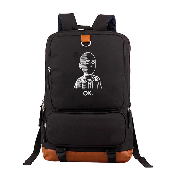 Anime ONE PUNCH-MAN  Student Backpack Big Capacity Rucksuck