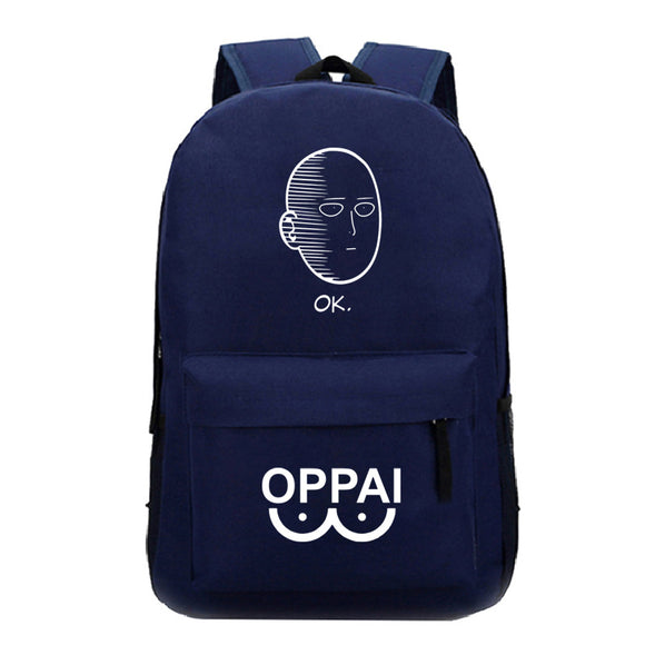 Anime Backpack One Punch Man  School Polyester Backpack Bookbag