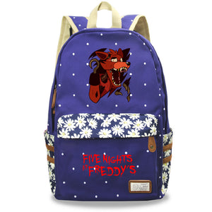 Five Nights at Freddy's School Backpack Book Bag Floral Backpack For Youth