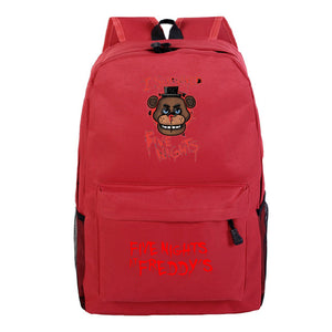 Five Nights at Freddy's School Monkey Print Backpack Book Bag For Youth Kids
