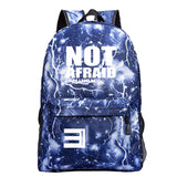 Eminem Youth Fashion Backpack High School Students Not Afraid Print Backpack