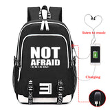 Eminem Backpack High School Students With USB Charge Port