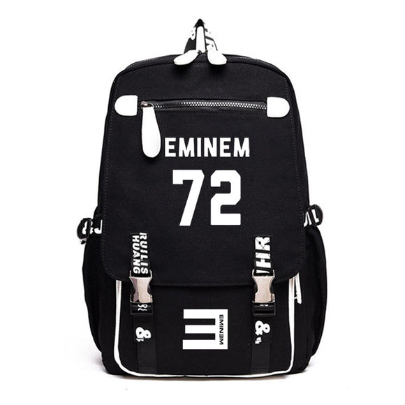 Eminem Backpack Students Backpack Computer Backpack