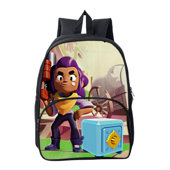 Brawl Stars  3D Print Teens Students Polyester Backpack School Bag For Gils Boys