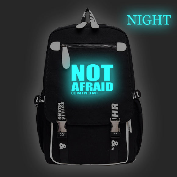 Eminem Backpack Glow In The Dark Students Backpack Computer Backpack