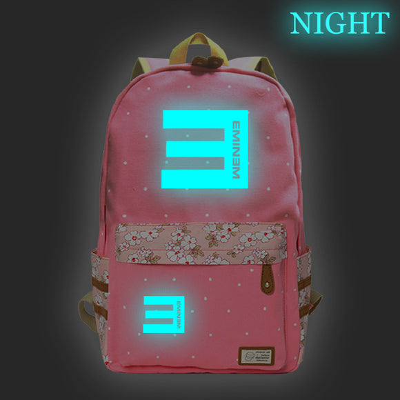 Eminem Backpack High School Students Backpack Glow In The Dark