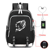 Fairy Tail Backpack Big Capacity Rucksuch Travel Bag With USB Charging Port