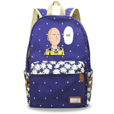 Anime ONE PUNCH-MAN Canvas Student Backpack Bookbags With Flower Décor
