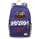 Five Nights at Freddy's School Polyester Backpack Book Bag Floral Backpack For Youth Kids