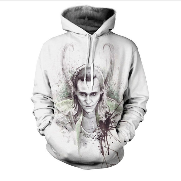 Marvel  Loki  3D Printed Unisex Hoodie Sweatshirt For Youth Adults