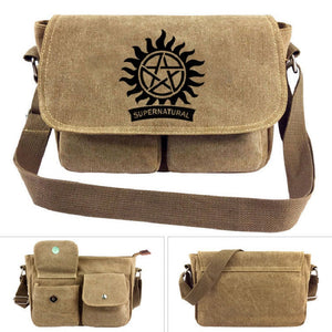 Supernatural Cross Shoulder Canvas Bags Unisex