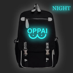 Anime Backpack School One Punch Man Backpack kawaii cute Saitama Backpack Glow In The Dark