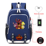 Five Nights at Freddy's Backpack Students Big  Rucksuck With USB Charging Port