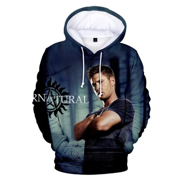 Supernatural 3D Print Hoodies For Adults Kids Unisex