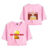 One Punch Man Girls Crop Top Polyester Shirt