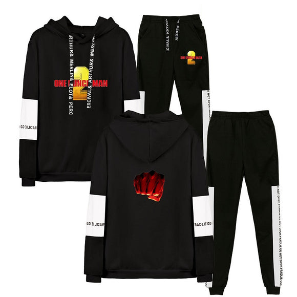 One Punch Man Unisex Hoodie and Pants Suit