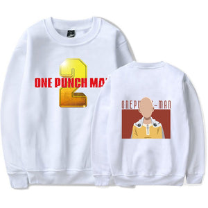 One Punch Man Unisex Youth Adults Round Neck Polyester Yellow Print Sweatshirt