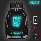 Anime Tokyo Ghoul Students Polyester Backpack BookBags With Charging Port