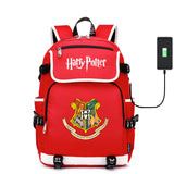 Harry Potter Students Backpack Bookbag Big Capacity Rucksuck With USB Charging Port