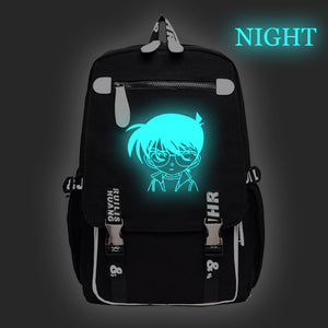 Japan Anime Detective Conan Backpack Rucksuck Glow In The Dark for Students
