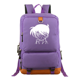 Japan Anime Detective Conan School Polyester Backpack  Book Bag  Big Capacity Rucksuck