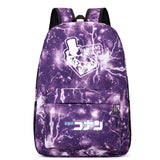 Japan Anime Detective Conan School Polyester Backpack Book Bag