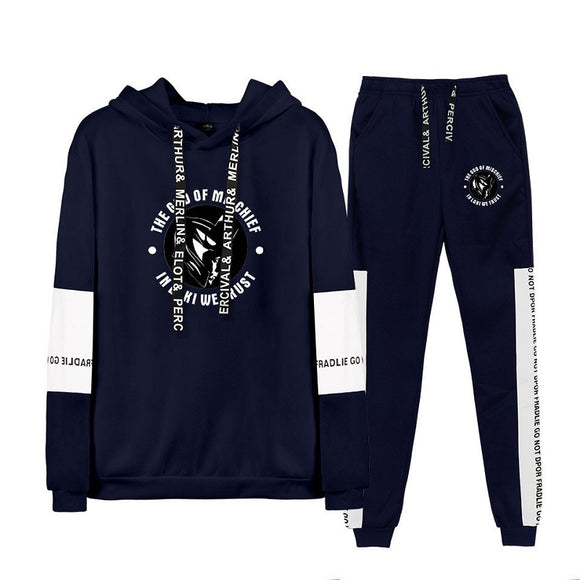 Marvel  Loki Print Hoodie Sweatshirt and Sweatpants Suit
