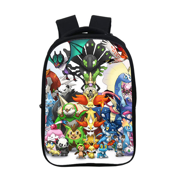 Anime Pokemon Go 3D Print  Kids Students Polyester Backpack School Bookbag Bookbags