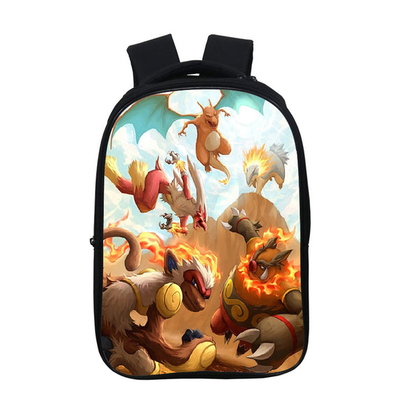 Anime Pokemon Go Cute  Kids Students Oxford Backpack School Bookbag For Youth