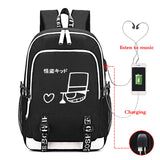 Japan Anime Detective Conan School Backpack  Book Bag With USB Charge Port