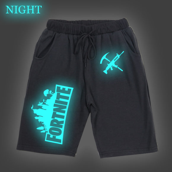 Kids Youth Fortnite Luminous Shorts Cansual Beach Short Swim Short