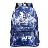 Japan Anime Detective Conan School Diamond Print Polyester Backpack  Book Bag  Day Bag