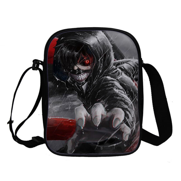 Anime Tokyo Ghoul Crossbody Polyester Bags Bookbag for Girls and Boys