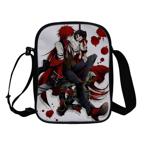 Anime Black Butler Kuroshitsuji Crossbody Polyester Bags School Bookbag