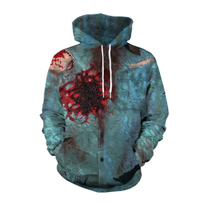 Halloween Hoodies Unisex Blood Shoot  Print  Hoodies