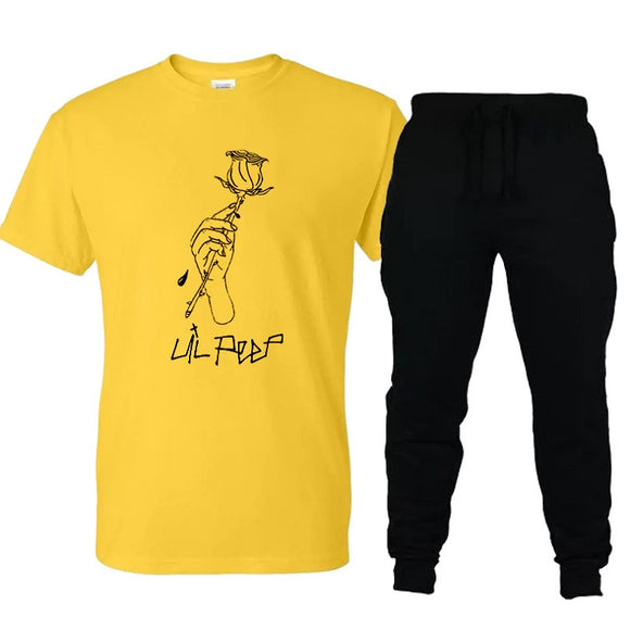 Rapper Lil Peep Casual Shirt and Sweatpants Suit
