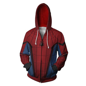 Marvel Spiderman Zipper Hoodie Jacket for Adults and Youth