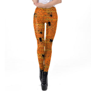 Halloween Leggings  Spider Web Print  Leggings