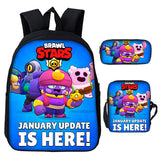 Brawl Stars  School Backpack With Lunch Bag Pencil Case 3PCS Set