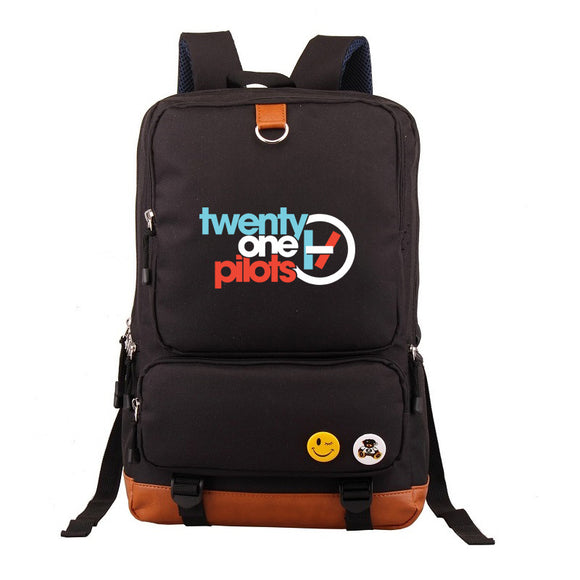 Twenty One 21 Pilots Students Big Capacity Backpack  Rucksuck Bookbag ForTeens Boys Girls