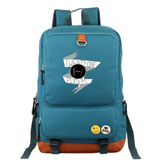 Twenty One 21 Pilots Students Big Capacity Polyester Backpack  Rucksuck Bookbag ForTeens Boys Girls