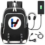 Twenty One 21 Pilots Backpack Schoolbag Book Bag With USB Charging Port For Teens Boys Girls Back to School